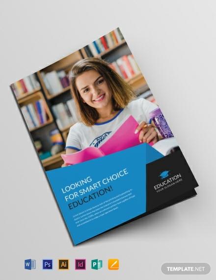 Modern Education Bifold Brochure Example