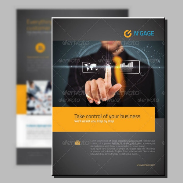 modern engaging business flyer template