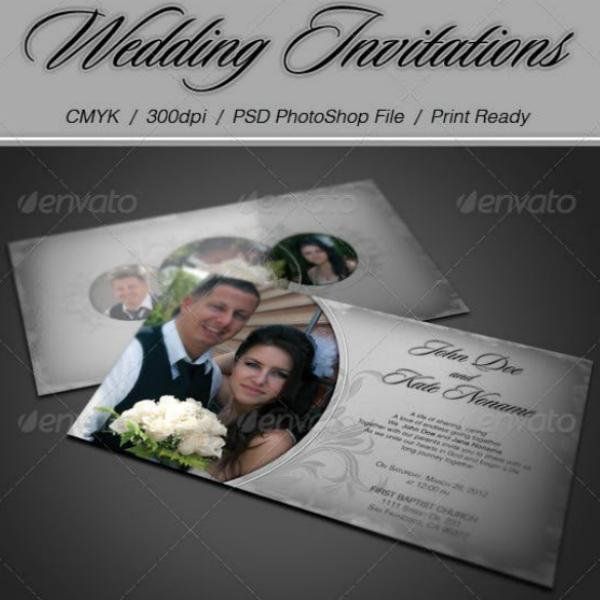 Modern Photo Wedding Invitation Design