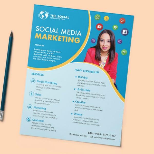 modern social media flyer layout