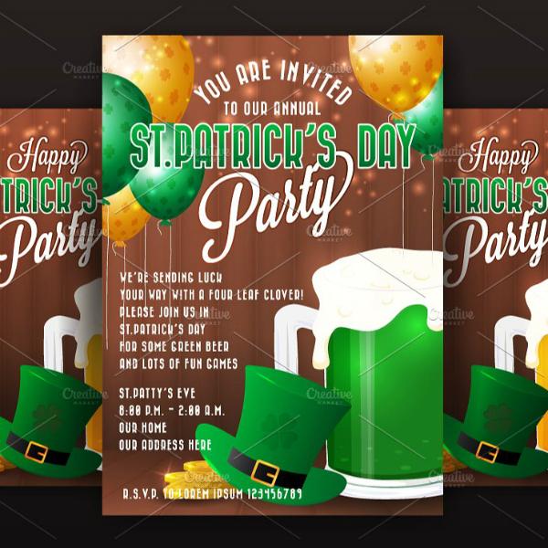 modern st patricks day invitation example