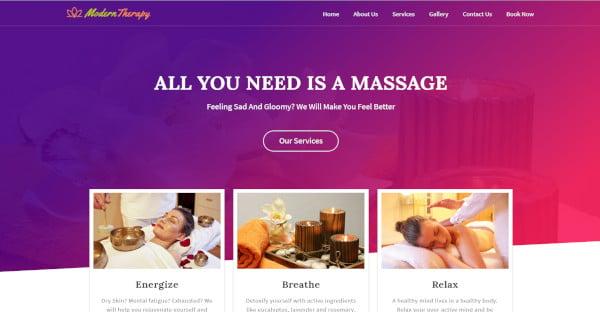 modern therapy best spa and massage wordpress theme