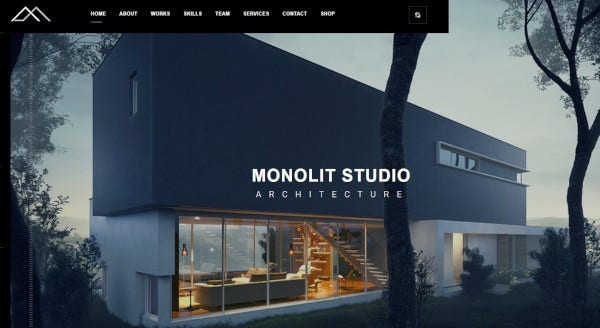 monolit – responsive architecture wordpress theme