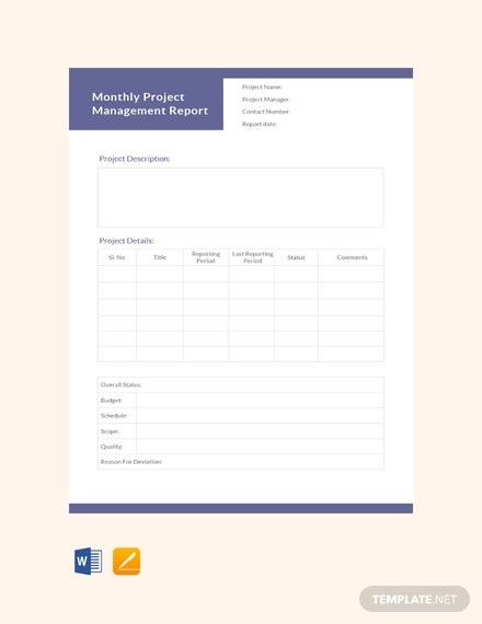 monthly project management report template 440x570 1