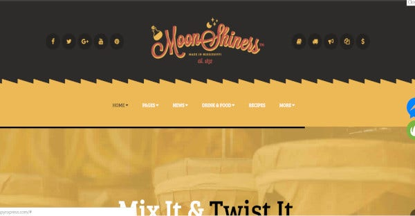 Moonshiners Lightweight WordPress Theme