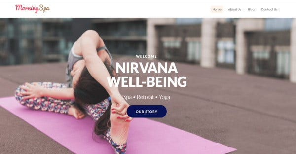 Morning Spa - Spa WordPress Theme