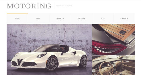 motoring html plusjs ready wordpress theme