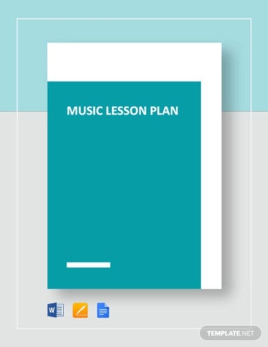 music lesson plan template