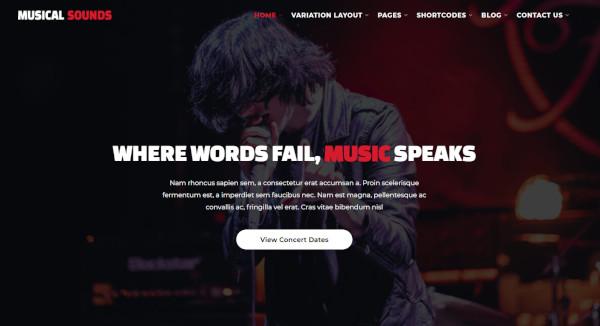 musical sounds – responsive wordpress theme
