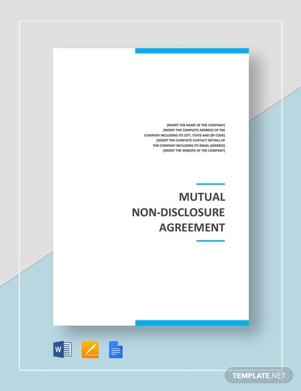 mutual non disclosure agreement template1