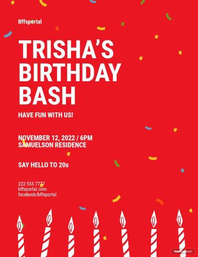 my birthday bash flyer template