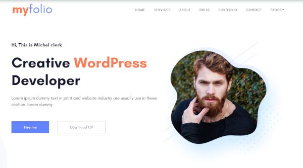 myfolio – user friendly wordpress theme
