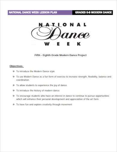 national dance week lesson plan