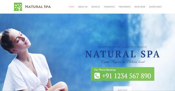 nature spa wordpress theme for massage spa