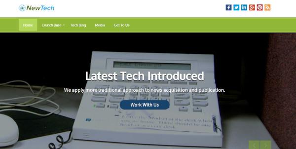 newtech – technology wordpress theme