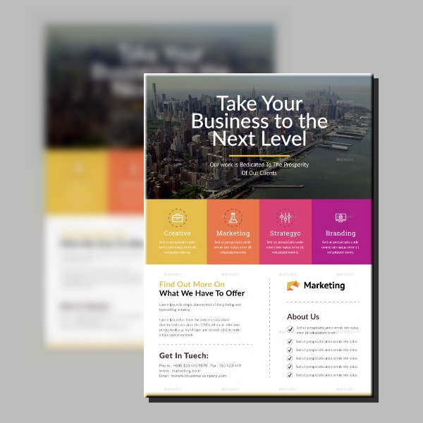 Next Level Corporate Flyer Template