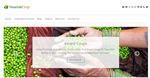 nourish crop – responsive wordpress theme template