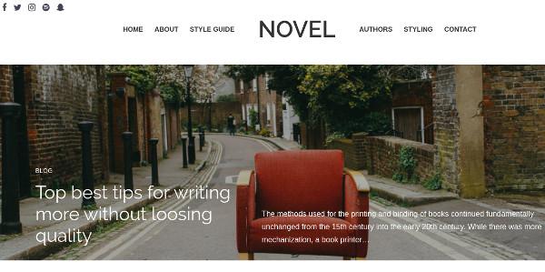 novel retina ready wordpress theme