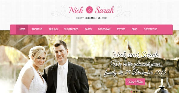 nuptials 600 google fonts wordpress theme