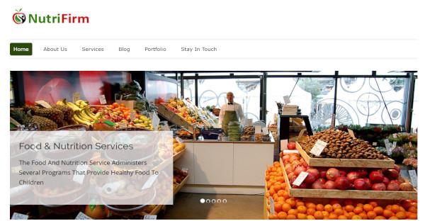 Nutrifirm – Responsive WordPress Theme
