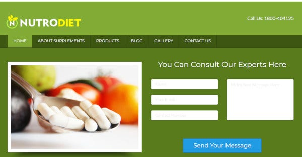 Nutrodiet – Mobile Friendly WordPress Theme