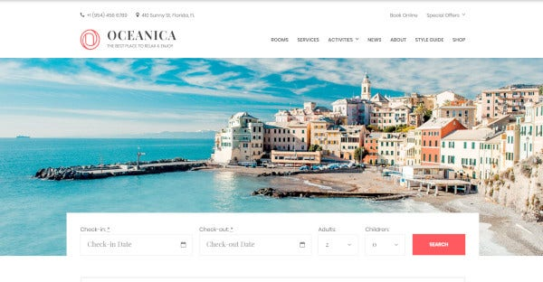 oceanica responsive wordpress theme