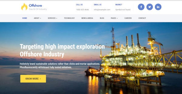 Offshore – Customized WordPress Theme