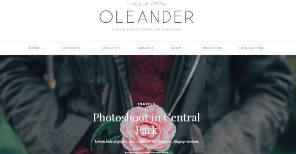 Oleander trendy WordPress Theme