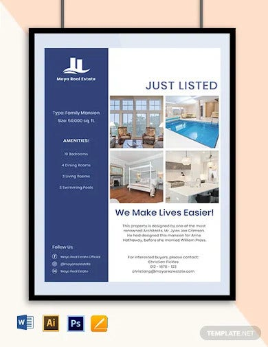 open house new listing flyer template