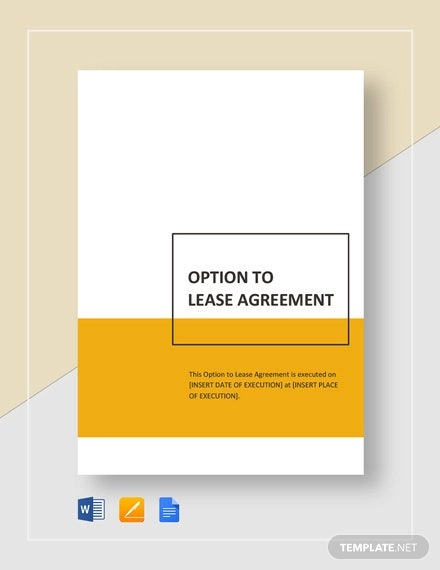 option to lease agreement template1