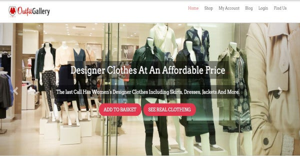 outfit gallery flexible clothing store template