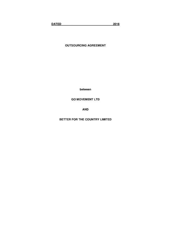 outsourcing agreement 01