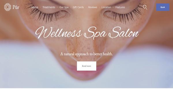 pur beauty spa wordpress theme