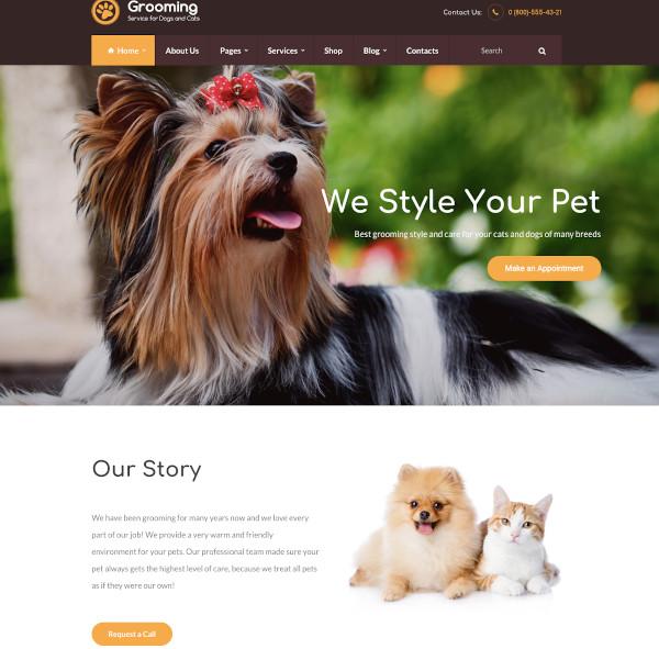 pet shop veterinary physician wordpress theme
