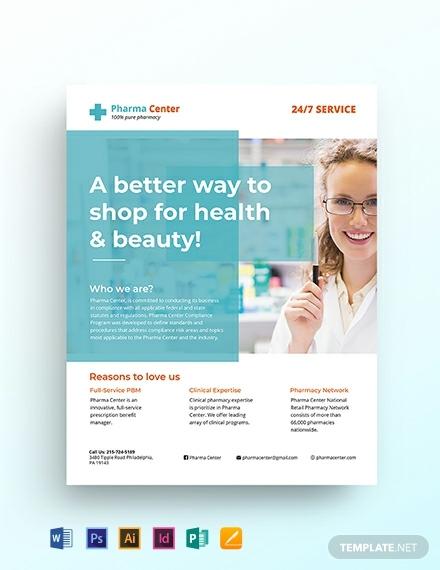 pharmacy flyer template 440x570 1