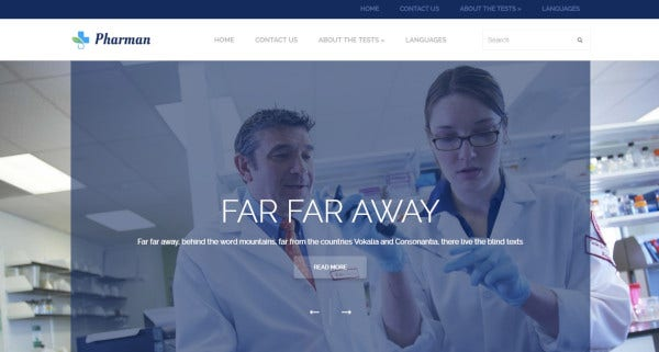 pharmacy wordpress theme for health