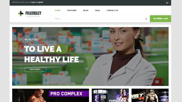 pharman a wordpress theme for pharma business