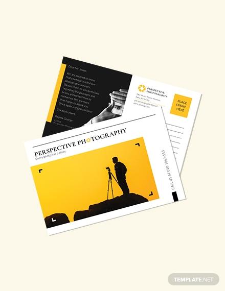 photography postcard template