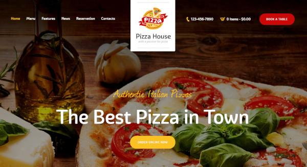 pizza house restaurant bistro café wordpress theme