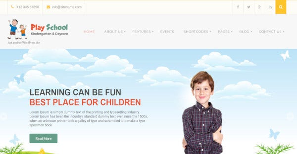 play school woocommerce wordpress theme