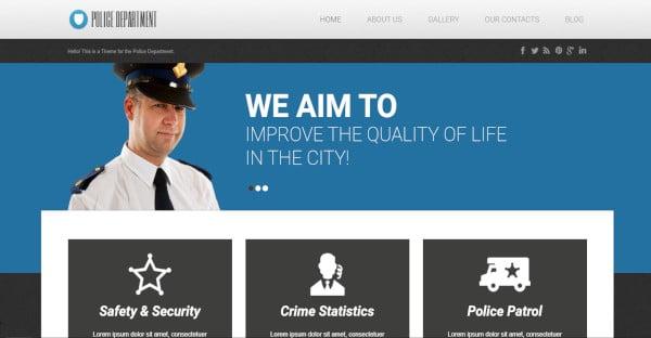 Police Department - Responsive WordPress Theme