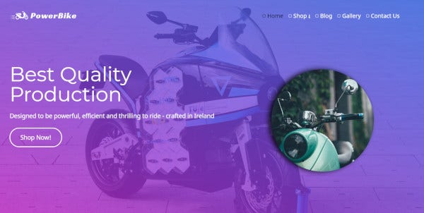 power-bike-custom-wordpress-theme