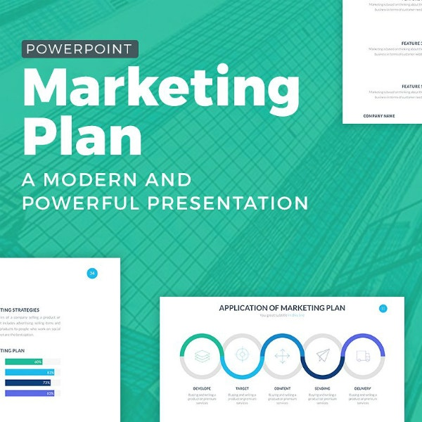 powerful marketing plan powerpoint template