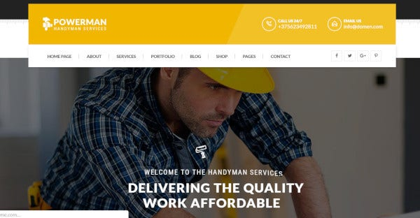 Powerman – Mobile Friendly WordPress Theme
