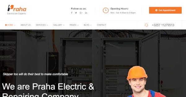 Praha – Retina Ready WordPress Theme