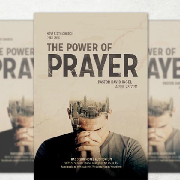 prayer power church flyer template