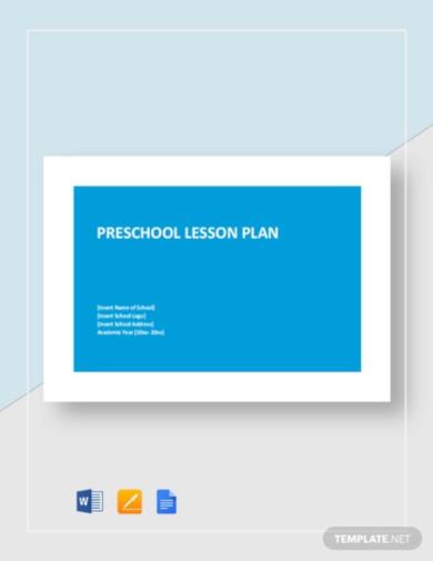 preschool lesson plan template1