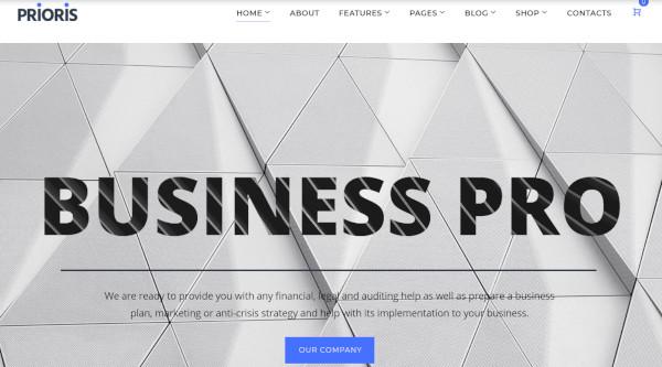 prioris jetelements wordpress theme