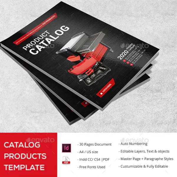 product advertising catalog example