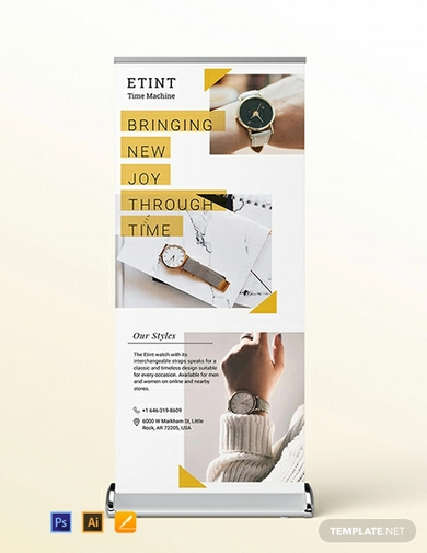 product launch roll up banner template